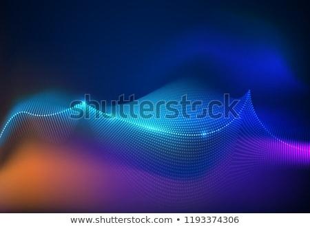 Particelle vibrante sfondo onda colore Foto d'archivio © SArts