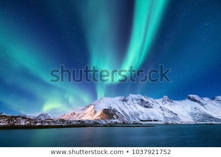aurora borealis lofoten stock photo © unkreatives