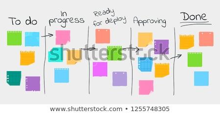 Tahta çalışmak zamanlamak organizasyon zaman planlama Stok fotoğraf © RAStudio