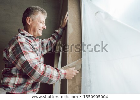 作業 · インテリア · 壁 · 家 · 建物 · 男 - ストックフォト © kzenon