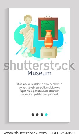 Gallery and Stone Architecture, Picture Vector App Stock photo © robuart