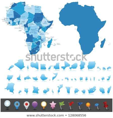 Pokaż · Nigeria · szczegółowy · ilustracja · banderą · eps10 - zdjęcia stock © conceptcafe