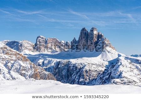 Montagna nuvoloso sci Italia cielo nubi Foto d'archivio © frimufilms