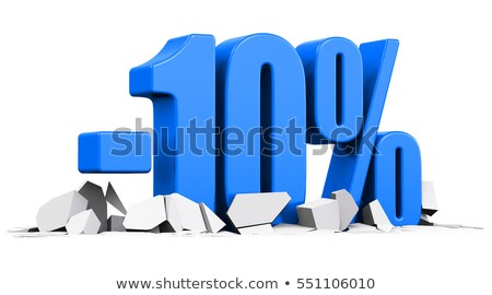 Ten percent on white background. Isolated 3D illustration Stock photo © ISerg