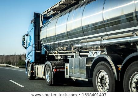 Teherautó víztartály nehéz szállítás jármű vektor Stock fotó © Ipajoel