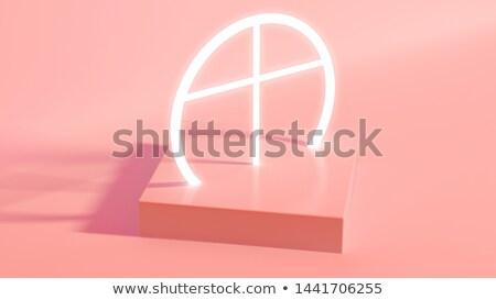 Pastel Geometry and Illuminated Crucifix Stock photo © albund