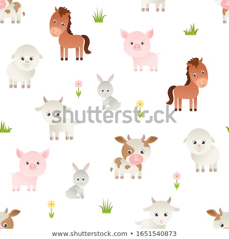 Feliz marrom cabra desenho animado Foto stock © izakowski