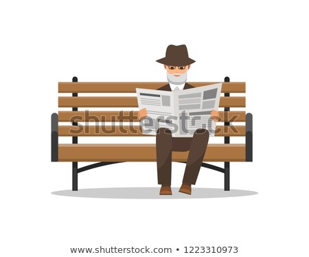 Man Holding Newspaper, Reading Journal Vector Stock photo © robuart