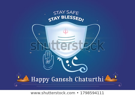 traditional indian happy ganesh chaturthi festival banner stock photo © sarts