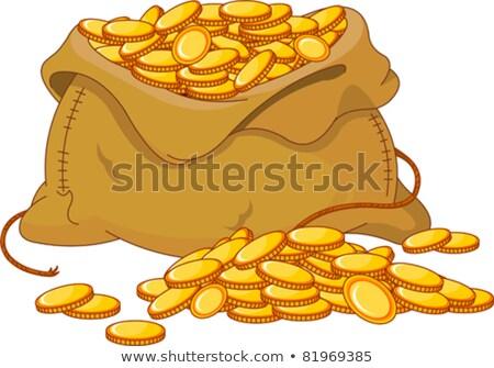 Charity or Investment, Golden Bag of Money Vector Stock photo © robuart