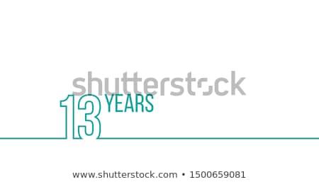 13 年 周年記念 歳の誕生日 リニア ストックフォト © kyryloff