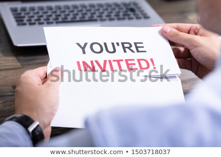 Man Reading You Are Invited Mail Stock photo © AndreyPopov