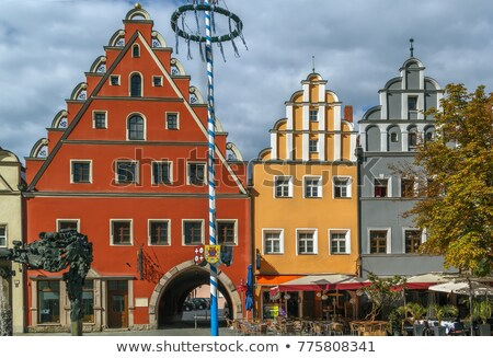 main square in weiden in der oberpfalz germany stock photo © borisb17