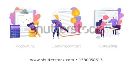 Financieros asesor financiar analista estrategia de negocios presupuesto Foto stock © RAStudio