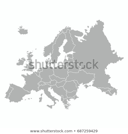 Europa map vector illustration Stock photo © nezezon