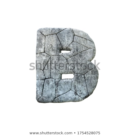 Concrete fracture font Letter B 3D Stock photo © djmilic