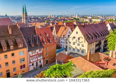 Cidade velha Alemanha casas rio água reflexões Foto stock © neirfy