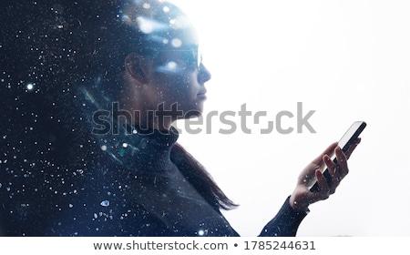 Wetenschap gadgets witte illustratie technologie achtergrond Stockfoto © bluering