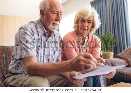 Vue supérieurs couple regarder Photo stock © wavebreak_media