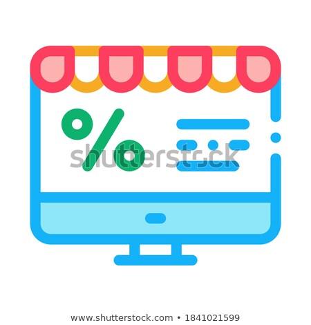 Computador por cento e-mail ícone vetor Foto stock © pikepicture