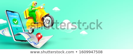 online food order package delivery service banners stock photo © -talex-
