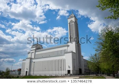 Catedral basílica Lituânia romano católico edifício Foto stock © borisb17
