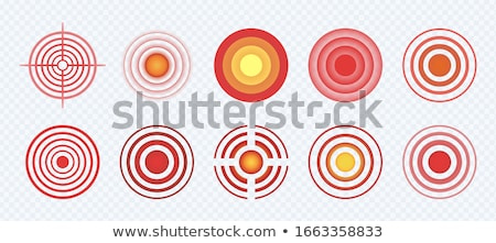 Aim Target Circle Pain Localization Mark Vector Stock photo © pikepicture