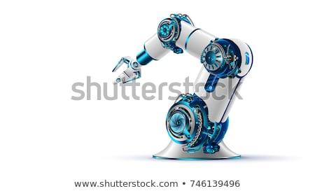 ロボットの メカニズム 孤立した 生産 白 スマート ストックフォト © robuart