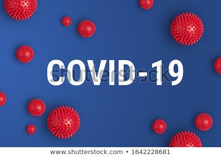 coronavirus infection covid19 virus spread blue background Stock photo © SArts