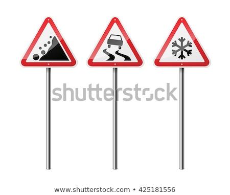 Vector Triangular Road Sign Stock photo © dashadima
