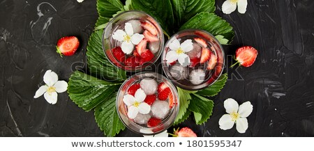 Szalag eper detoxikáló víz virág nyár Stock fotó © Illia