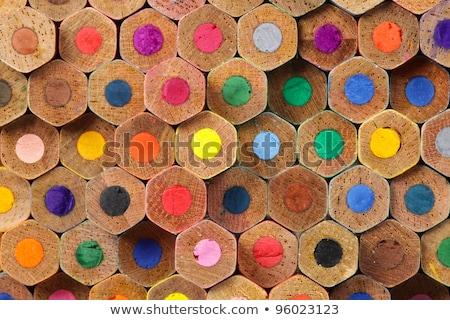 Grafisch ontwerp kleuren krijtjes potlood trekken monochroom Stockfoto © yupiramos
