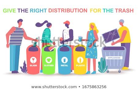 Vermek doğru dağıtım çöp geri dönüşüm akıllı Stok fotoğraf © robuart