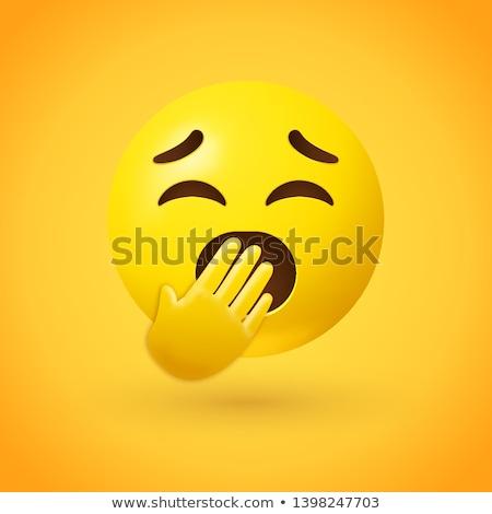 Bocejar emoticon sorrir cor Foto stock © yayayoyo