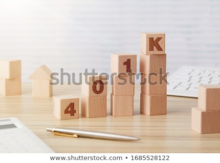 401K wooden blocks chart Stock photo © goir
