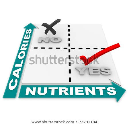 Baixo calorias alto nutrientes matriz dieta Foto stock © ivelin