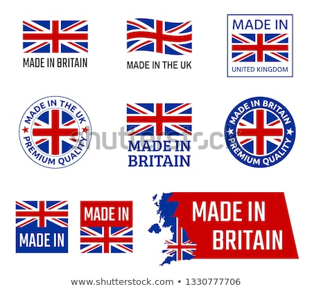 set of uk labels stock photo © orson
