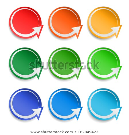 white and green rounded rectangle bookmark Stock photo © orson