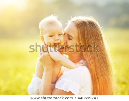 родителей · ребенка · поцелуй · Открытый · девушки · лице - Сток-фото © Paha_L