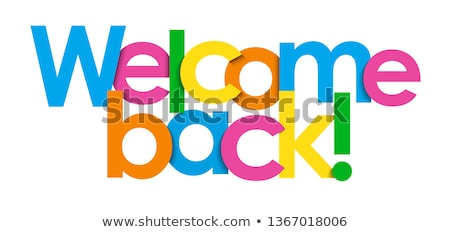 3d colorful welcome stock photo © nasirkhan