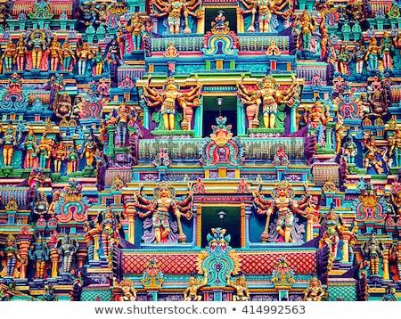 Foto stock: Templo · torre · krishna · imagem · pedra · deus