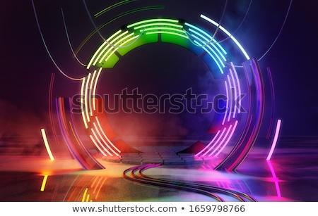 3d Rainbow Lines Stockfoto © solarseven