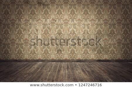 Antica carta da parati senza soluzione di continuità buio tessuto nero wallpaper Foto d'archivio © silent47