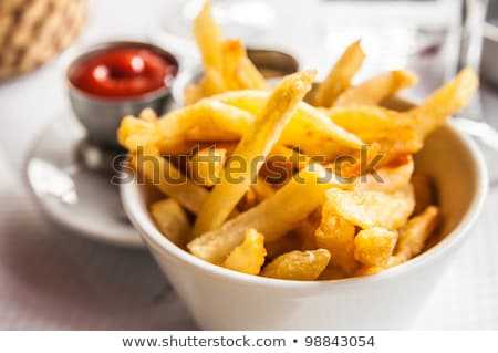 Złoty frytki ziemniaki gotowy Zdjęcia stock © ilolab
