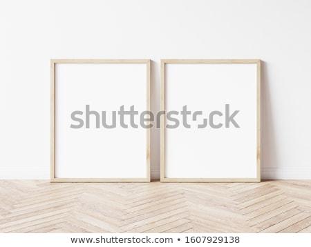 paar · lege · fotolijstje · hout · kamer - stockfoto © photography33