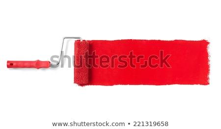 Piros festékhenger Stock fotó © goir