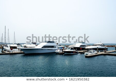 Luxury yachts parked in a bay on the sea Stock photo © dashapetrenko