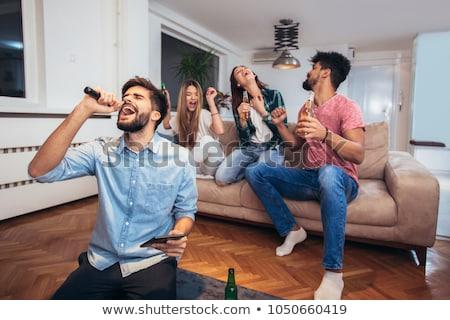 Man at a house party Stock photo © photography33