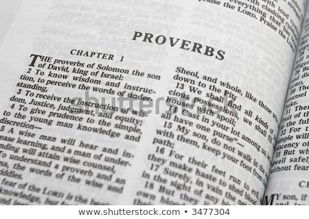 Stock photo: Book of Proverbs