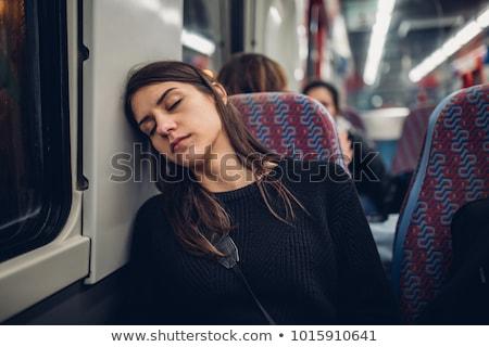Adolescente tranvía mujer nina ciudad paisaje Foto stock © photography33